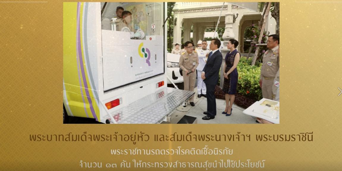 สำนักพระราชวัง ดำเนินการตรวจเชื้อไวรัสโคโรนา (โควิด-19) เชิงรุกให้กับแรงงานไทย และแรงงานต่างด้าว ด้วยรถตรวจชีวนิรภัยพระราชทาน